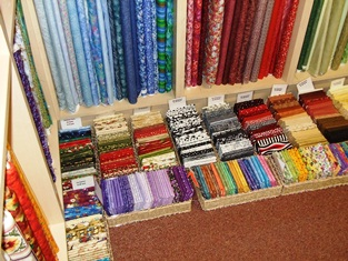 Photo of fabric shop